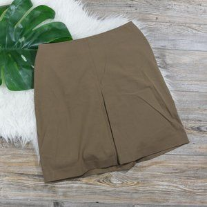 The Limited faux middle slit khaki skirt